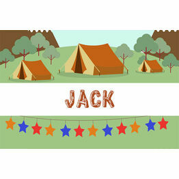 Camping Themed Name Cards - Set of 9
