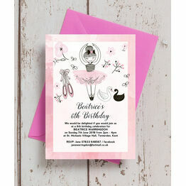 Prima Ballerina Birthday Party Invitation