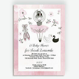 Prima Ballerina Baby Shower Invitation