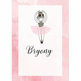 Prima Ballerina Name Cards - Set of 9
