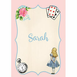 Alice in Wonderland Name Cards - Set of 9