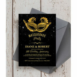 Masquerade Ball 30th / Pearl Wedding Anniversary Invitation