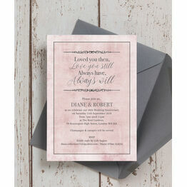 Pastel Pink Quote 40th / Ruby Wedding Anniversary Invitation