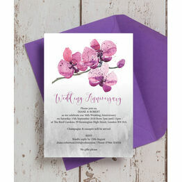 Orchid Flower 50th / Golden Wedding Anniversary Invitation