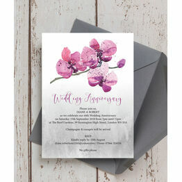 Orchid Flower 60th / Diamond Wedding Anniversary Invitation