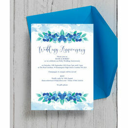 Blueberry 40th / Ruby Wedding Anniversary Invitation