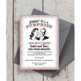 Retro Surprise 30th / Pearl Wedding Anniversary Invitation