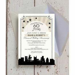 Vintage Hollywood 60th / Diamond Wedding Anniversary Invitation