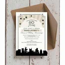 Vintage Hollywood Wedding Anniversary Invitation