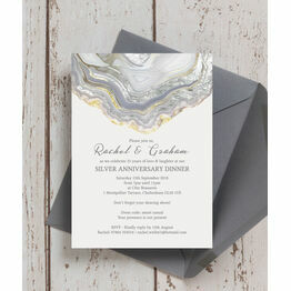 Agate Crystal 25th / Silver Wedding Anniversary Invitation