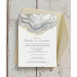 Agate Crystal 30th / Pearl Wedding Anniversary Invitation