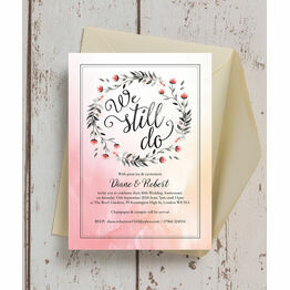 personalised 40th ruby wedding anniversary invitations