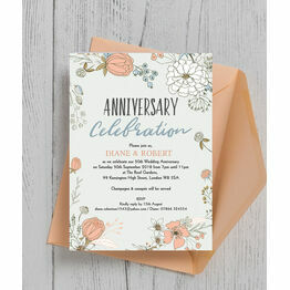 Wild Flowers 50th / Golden Wedding Anniversary Invitation