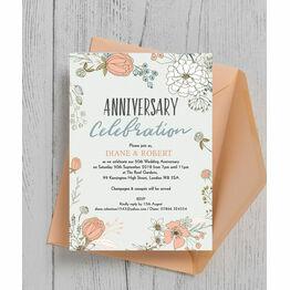 Personalised 50th Golden Wedding Anniversary Invitations