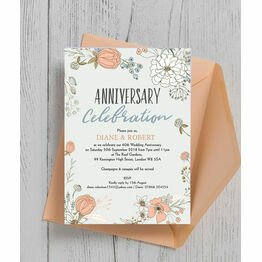 Wild Flowers 60th / Diamond Wedding Anniversary Invitation