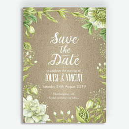 Rustic Greenery Wedding Save the Date