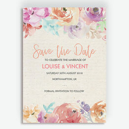 Pastel Floral Wedding Save the Date