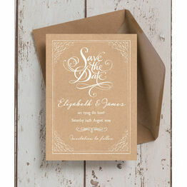 Rustic Kraft Wedding Save the Date