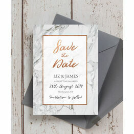 Marble & Copper Wedding Save the Date