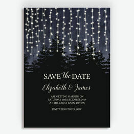 Enchanted Forest Wedding Save the Date