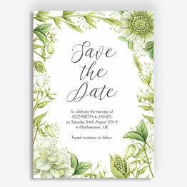 Greenery Wedding Save the Date