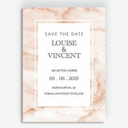 Blush Marble Wedding Save the Date