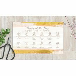 Blush Pink & Gold Wedding Timeline Cards