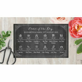 Rustic Chalkboard Wedding Timeline Cards