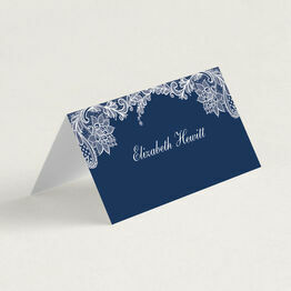 Romantic Lace Folded Wedding Place Cards
