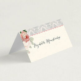Sweet Vintage Folded Wedding Place Cards