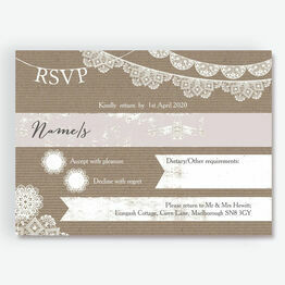 Rustic Lace Bunting RSVP