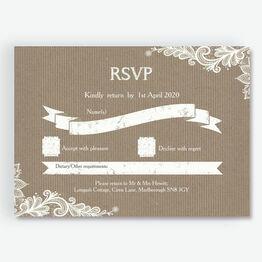 Rustic Lace RSVP