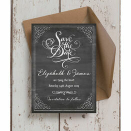 Chalkboard Save the Date