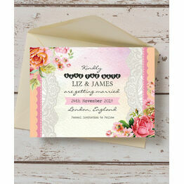 Pastel Watercolour Save the Date