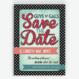 Rockabilly Retro Save the Date