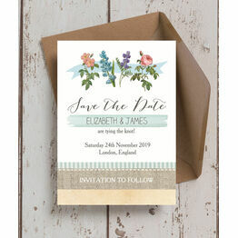 Rustic Botanical Save the Date
