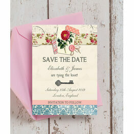 Vintage Scrapbook Save the Date
