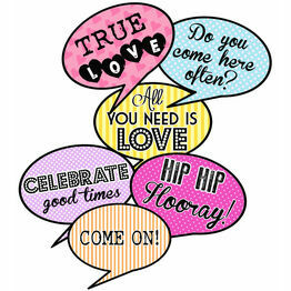 Printable Speech Bubble Slogan Props