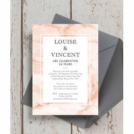 Blush Marble 50th / Golden Wedding Anniversary Invitation