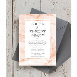 Blush Marble 60th / Diamond Wedding Anniversary Invitation