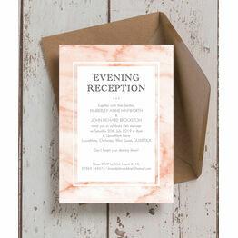 Blush Marble Evening Reception Invitation