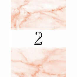 Blush Marble Table Number