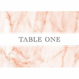 Blush Marble Table Name