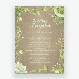 Rustic Greenery Evening Reception Invitation