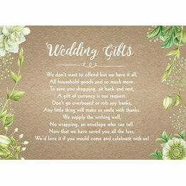 Rustic Greenery Gift Wish Card