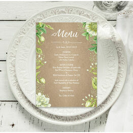 Rustic Greenery Menu