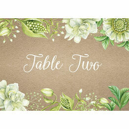 Rustic Greenery Table Name