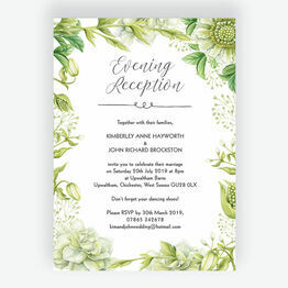 Greenery Evening Reception Invitation