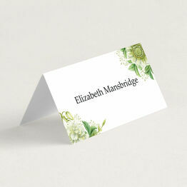 Greenery Folded Wedding Place Cards