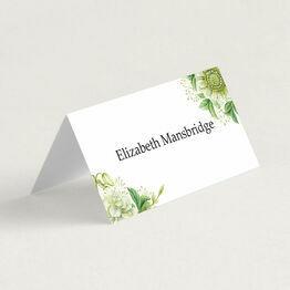 Greenery Folded Wedding Place Cards